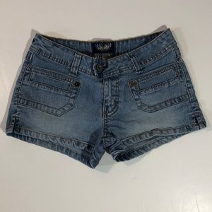 Angels Low Rise Stretch Jean Shorts
